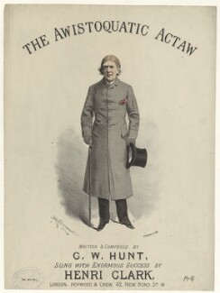 Henri Clark, by Alfred Concanen, printed by  Stannard & Son, published by  Hopwood & Crew - NPG D42799