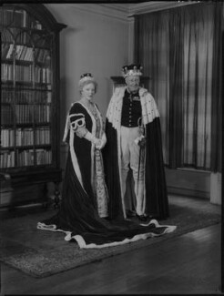 Maud Elizabeth Furse Barnes (née Radcliffe), Lady Gorell; Ronald Gorell Barnes, 3rd Baron Gorell, by Navana Vandyk - NPG x137841