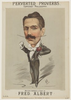 Fred Albert, by William Spalding, printed by  Thomas Packer, published by  Henri D'Alcorn, after  Alfred Bryan - NPG D42803