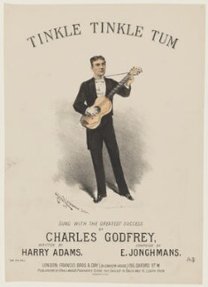 Charles Godfrey, by Alfred Concanen, printed by  Stannard & Son, published by  Francis Brothers & Day - NPG D42805