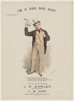 J.W. Rowley, by Alfred Concanen, printed by  Stannard & Son, published by  Hopwood & Crew - NPG D42807