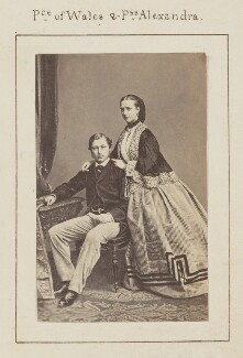 King Edward VII; Queen Alexandra, by Ghémar Frères - NPG Ax128904