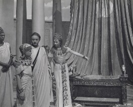Anthony Harvey as Ptolemy; Claude Rains as Julius Caesar; Vivien Leigh as Cleopatra in 'Caesar and Cleopatra', by Wilfrid Newton - NPG x137976