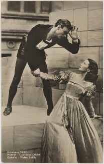 Laurence Olivier as Hamlet and Vivien Leigh as Ophelia in 'Hamlet', by Unknown photographer, 1937 - NPG  - © National Portrait Gallery, London