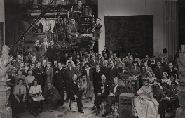 Cast and crew on the set of 'The Wicked Lady', including Margaret Lockwood, by Unknown photographer - NPG x137994