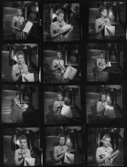 Phyllis Calvert during the filming of 'The Golden Madonna', by Francis Goodman - NPG x195613