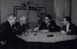 Robert John Graham Boothby, Baron Boothby; Cyril Edwin Mitchinson Joad; Gilbert Charles Harding; Jacob Bronowski, by BBC - NPG x184270
