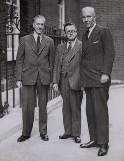 Walter Citrine, 1st Baron Citrine; Herbert Morrison, Baron Morrison of Lambeth; Hugh John Neale Dalton, Baron Dalton, by Associated Press, 1940s - NPG x184285 - © Associated Press