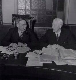 G. Bagnall; Walter McLennan Citrine, 1st Baron Citrine, by Reuben Saidman - NPG x184286