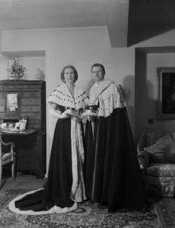 Anne Elizabeth (née Phillips), Lady Shuttleworth; Charles Ughtred John Kay-Shuttleworth, 4th Baron Shuttleworth, by Navana Vandyk - NPG x130636