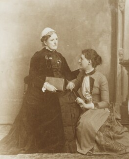 Hannah Tatum Smith (née Whitall); Alys Whitall Russell (née Pearsall Smith), by Unknown photographer - NPG Ax160624