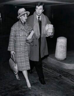 Leslie Caron; Sir Peter Hall, by Brenard Press Ltd - NPG x184303