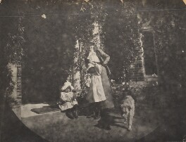 'Friday's Hill: Aunty Loo, Ray, Karin & Rumpty at the front door', by Unknown photographer - NPG Ax160673
