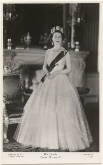 Queen Elizabeth II, by Baron (Sterling Henry Nahum), published by  The Photochrom Co Ltd - NPG x138021