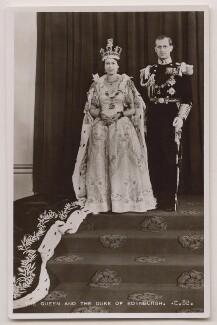 Queen Elizabeth II; Prince Philip, Duke of Edinburgh, published by James Valentine & Sons Ltd - NPG x138028