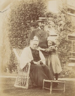 Marianne Costelloe (née Conn); Benjamin Francis Conn ('Frank') Costelloe; Ray Strachey, by Unknown photographer - NPG Ax160698