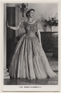 Queen Elizabeth II, by Baron (Sterling Henry Nahum), published by  James Valentine & Sons Ltd - NPG x138038