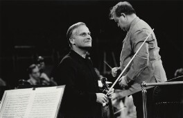 Yehudi Menuhin; David Oistrakh, by Michael Peto - NPG x138052