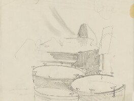 Grand piano and timpani, by Ernest Procter - NPG 4975(14)