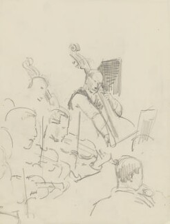 Frederick Delius with five members of the orchestra, by Ernest Procter - NPG 4975(15)
