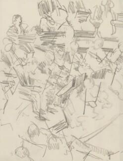 Unknown musicians, by Ernest Procter - NPG 4975(22)