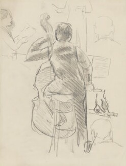 Double bass player, possibly Eugene Cruft, by Ernest Procter - NPG 4975(23)