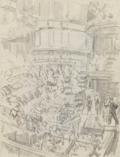 Sir Thomas Beecham conducting 'A Mass of Life' at the Queen's Hall, by Ernest Procter - NPG 4975(31)