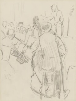 Sir Thomas Beecham, 2nd Bt with members of the orchestra, by Ernest Procter - NPG 4975(32)