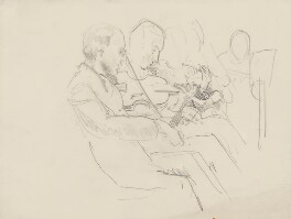 Two unknown violinists, by Ernest Procter - NPG 4975(33)