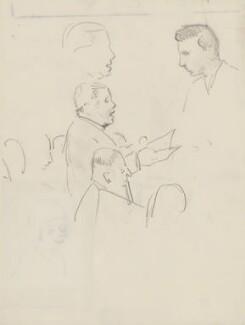 Tudor Davies, Roy Henderson and Leslie Woodgate, by Ernest Procter - NPG 4975(35)