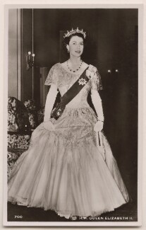 Queen Elizabeth II, published by James Valentine & Sons Ltd - NPG x138040