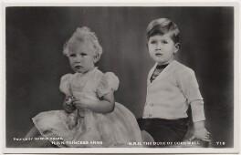 Princess Anne; Prince Charles, by Marcus Adams - NPG x138085