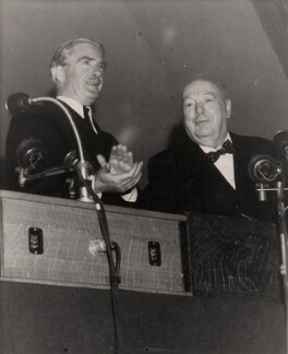 Anthony Eden, 1st Earl of Avon; Winston Churchill, by International News Photos - NPG x182303