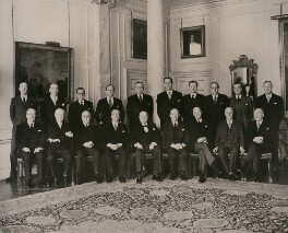 Winston Churchill and his cabinet of 1955, by International News Photos - NPG x182304