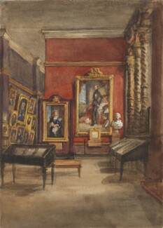 Eastern end of the Lower Gallery of the National Portrait Gallery at South Kensington, by Sir George Scharf - NPG 2747b