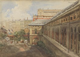 Exterior of the National Portriat Gallery buildings at South Kensington, facing Exhibition Road, by Sir George Scharf - NPG 2747c