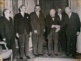 Anthony Eden, 1st Earl of Avon; Winston Churchill, by International News Photos - NPG x184363