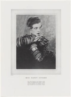 Nancy Cunard, by Man Ray - NPG x138122