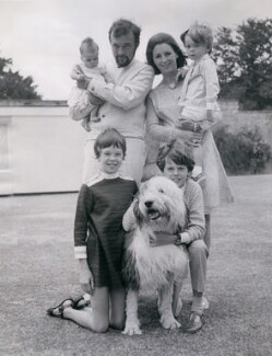 Sir Peter Hall and family, by Universal Pictorial Press and Agency Ltd - NPG x184397