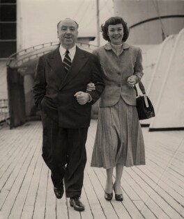 Alfred Hitchcock; Jane Wyman, by P.A. Reuter Photos Ltd - NPG x182315