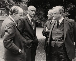 Iain Macleod; Alexander Douglas-Home, Baron Home; Anthony Barber, Baron Barber; Quintin Hogg, 1st Baron Hailsham, by Graphic Photo Union, 23 June 1970 - NPG x182323 - © reserved; collection National Portrait Gallery, London