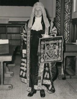 Quintin McGarel Hogg, 1st Baron Hailsham of St Marylebone, by Central Press - NPG x182324