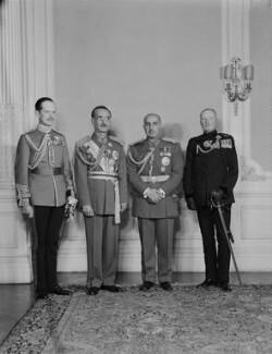 Thomas William Edward Coke, 5th Earl of Leicester; Sardar Shah Wali Khan; Mohammad Daud Khan; Frederick Herbert Willasey-Wilsey, by Navana Vandyk - NPG x130722