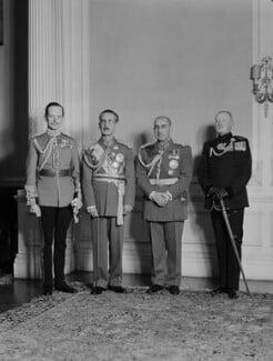 Thomas William Edward Coke, 5th Earl of Leicester; Sardar Shah Wali Khan; Mohammad Daud Khan; Frederick Herbert Willasey-Wilsey, by Navana Vandyk - NPG x130724