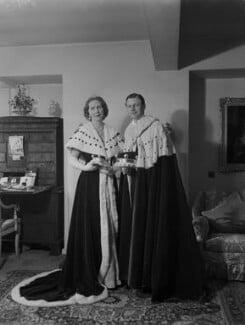 Anne Elizabeth (née Phillips), Lady Shuttleworth; Charles Ughtred John Kay-Shuttleworth, 4th Baron Shuttleworth, by Navana Vandyk - NPG x130638