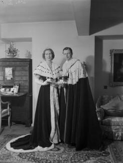 Anne Elizabeth (née Phillips), Lady Shuttleworth; Charles Ughtred John Kay-Shuttleworth, 4th Baron Shuttleworth, by Navana Vandyk - NPG x130639