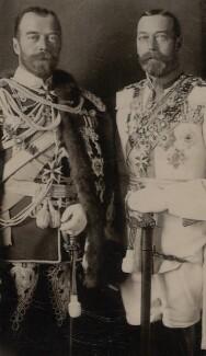 Nicholas II, Emperor of Russia; King George V, by Ernst Sandau - NPG x138142