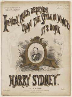 Harry Sydney, by Henry Calton Terrence Maguire, printed by  Stannard & Dixon, published by  Henri D'Alcorn - NPG D42809