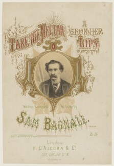 Sam Bagnall, by C. or G. Taylor, printed by  L'Enfant & White, published by  Henri D'Alcorn - NPG D42810