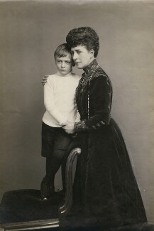 Olav V, King of Norway; Queen Alexandra, by David Knights-Whittome - NPG x194006